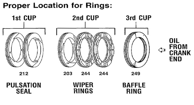 Arrow Part # 860-LC-333 Oil Wiper Rings image