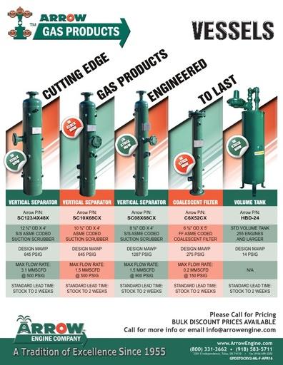 Arrow Gas Products - Tanks flier