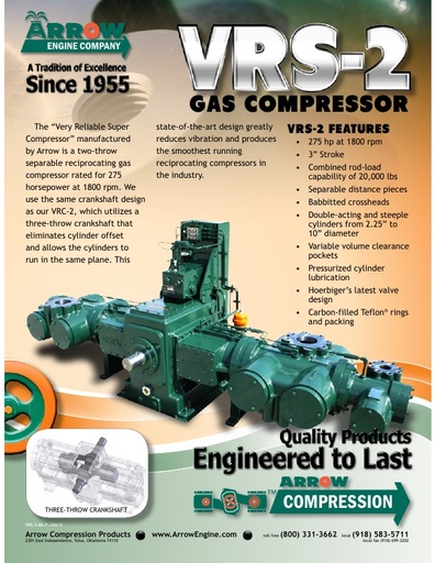 VRS-2 Gas Compressor Flier