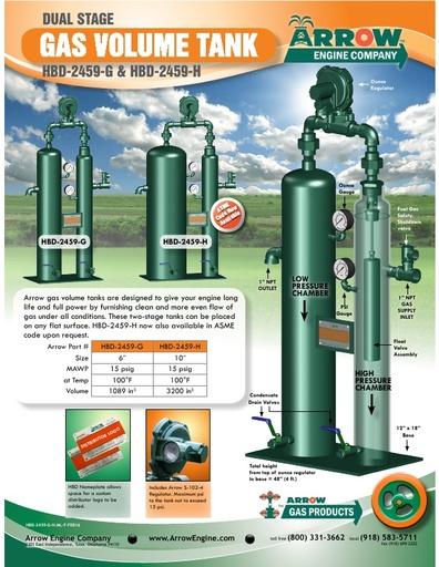 Gas Volume Tank Flier HBD-2459-G&H